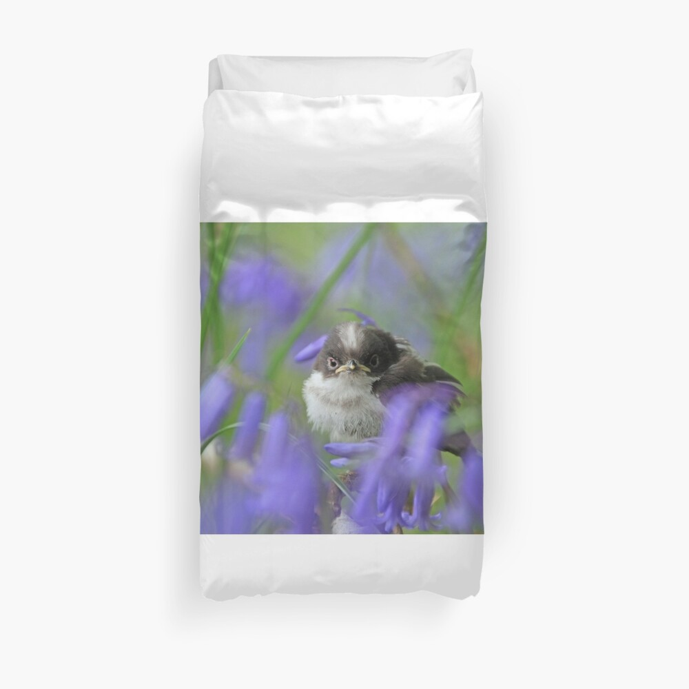 Bird in the blue Duvet Cover