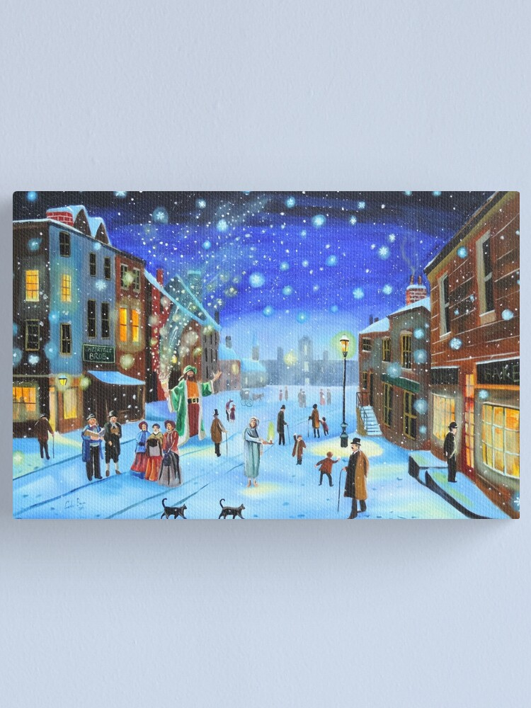Alternate view of A Christmas Carol Scrooge ghost of Christmas present Canvas Print