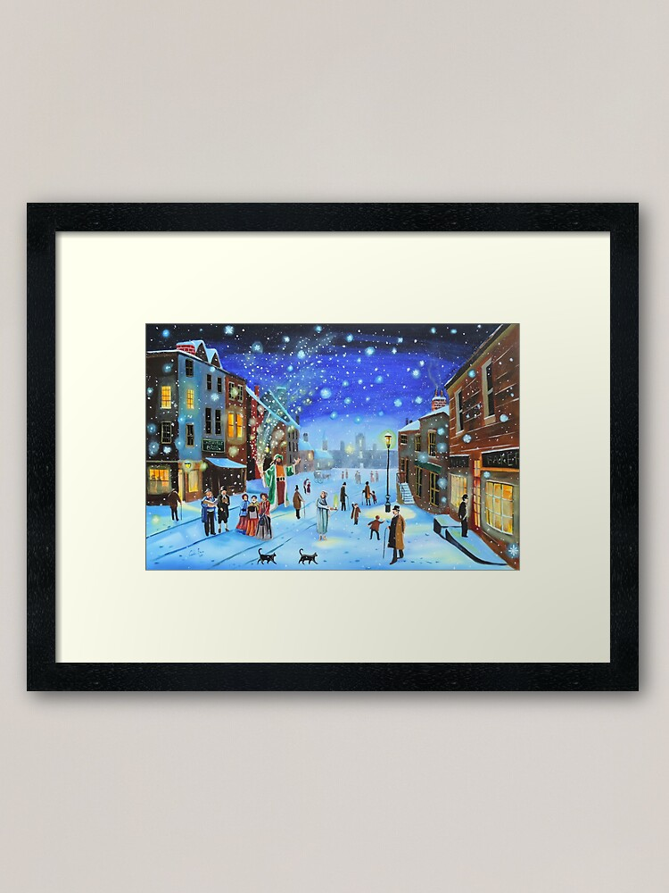 Alternate view of A Christmas Carol Scrooge ghost of Christmas present Framed Art Print
