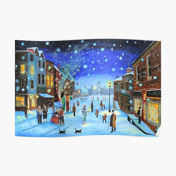 A Christmas Carol Scrooge ghost of Christmas present Poster