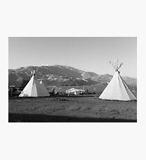 Native American camp ground Photographic Print