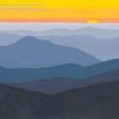 Max Patch Sunset #104 by Cindy Lou Chenard
