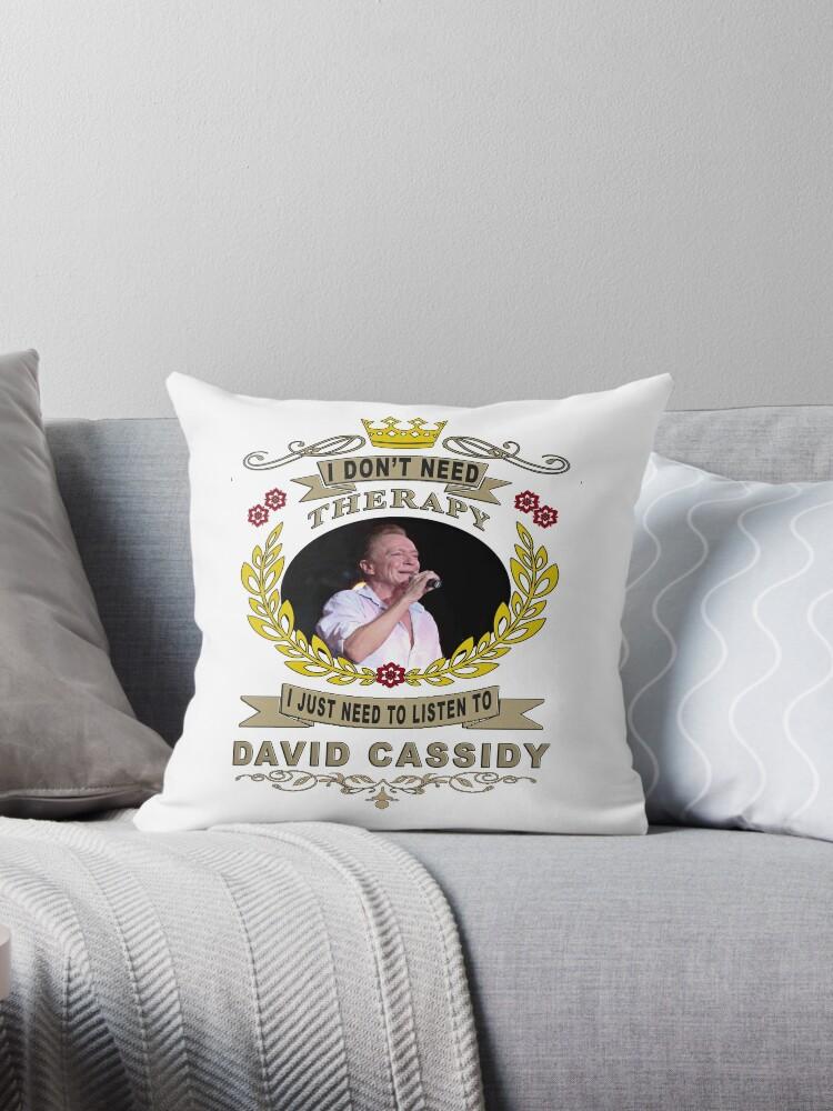 'DAVID CASSIDY love of my life ' Throw Pillow by Faresalex1