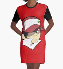 Trainer Red Bust Graphic T-Shirt Dress