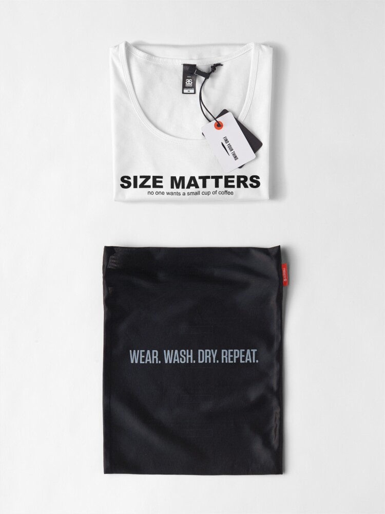 Alternate view of Size Matters Premium Scoop T-Shirt