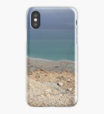 Blue and turquoise in the Dead sea desert  iPhone Case/Skin