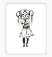 Creepy Cute Pastel Goth Pop Surrealism Art Sticker