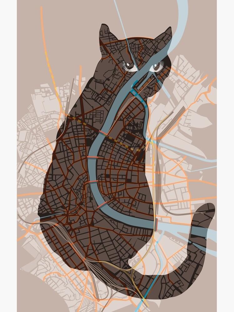 Basel Citymap | NIGHTCAT von procreaction