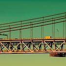 Brücke über dem Tejo in Portugal by Aviana
