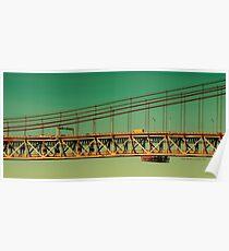 Brücke über dem Tejo in Portugal Poster