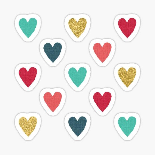 Colorful Mini Hearts Sticker