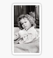 Shirley Temple Deep in Thought Sticker