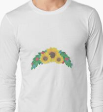 Sunflower Cluster Long Sleeve T-Shirt