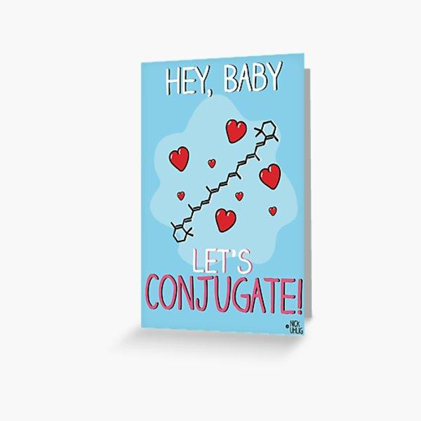 Let's conjugate! Greeting Card