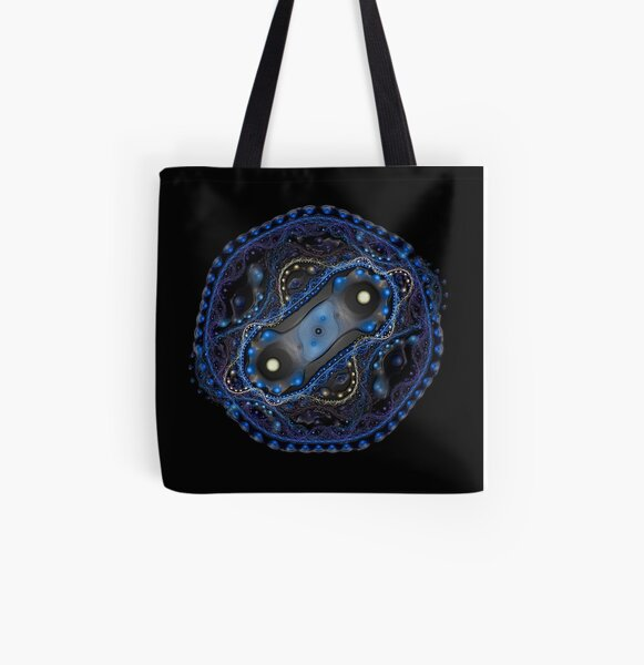 Cell Division Plastified Allover-Print Tote Bag