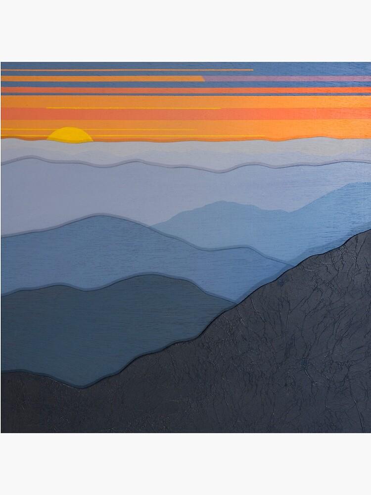 Modern Blue Ridge Parkway Sunset #102 by CindyLouChenard