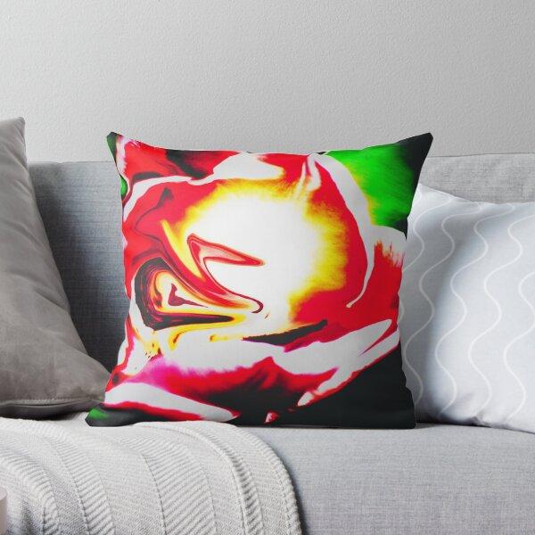 abstract floral design Throw Pillow