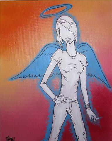 Smoking Angel by SHME32