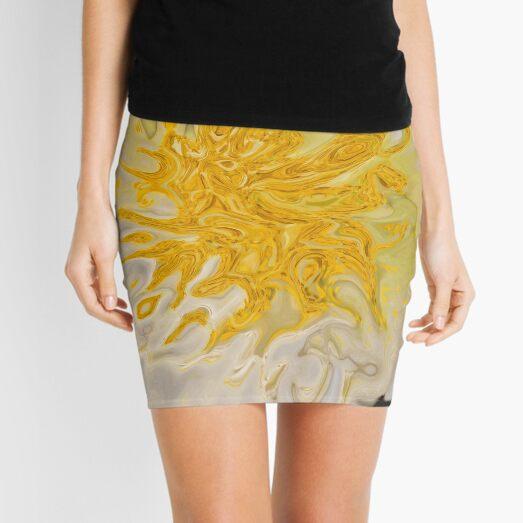 yellow on white background Mini Skirt