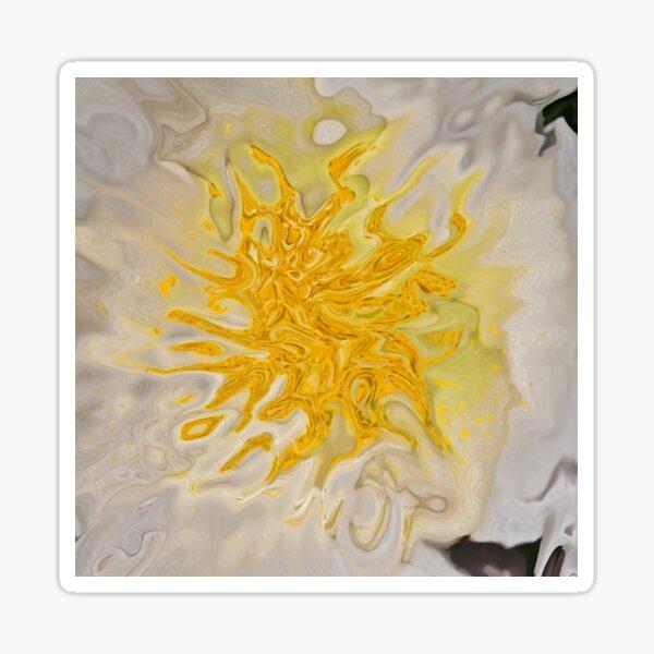 yellow on white background Sticker