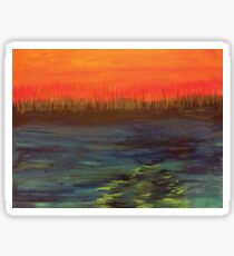 Landscape of Fire and Water Sticker