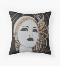 ART DECO GOLD BEAUTY Throw Pillow