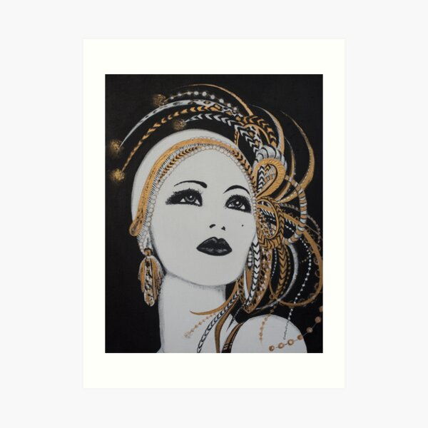 ART DECO GOLD BEAUTY Art Print