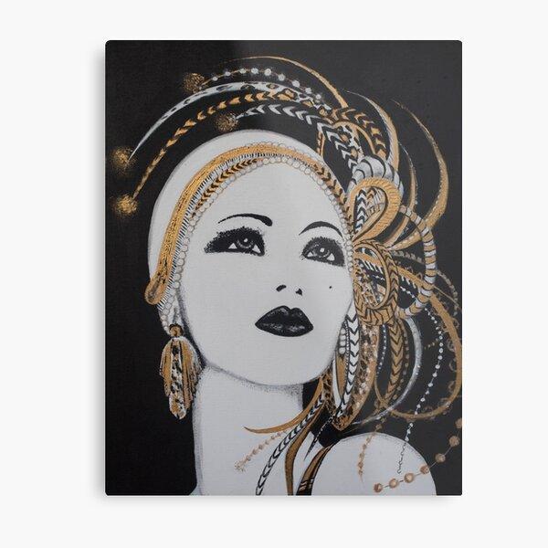 ART DECO GOLD BEAUTY Metal Print
