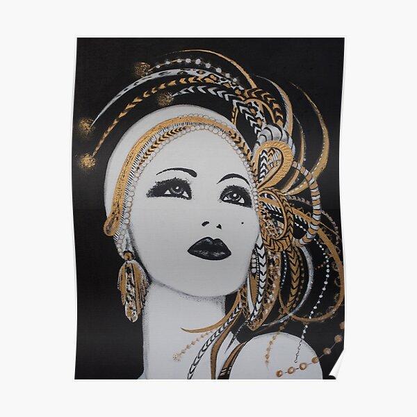 ART DECO GOLD BEAUTY Poster
