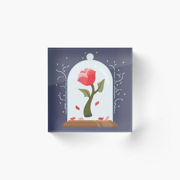 The Beast's Rose Acrylic Block