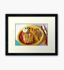 Mexican Chimichanga Burrito Framed Print