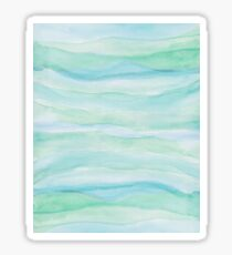 Watercolor Blue Green Agate Layers Sticker