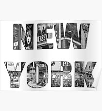 New York (B&W lettering) Poster