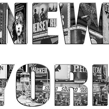 New York (B&W lettering) by RayW