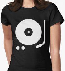 Minimal Vinyl Record Player Icon T-Shirt