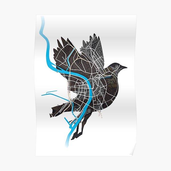 Basel Citymap Artwork | BIRDY [baslerdybli] Poster