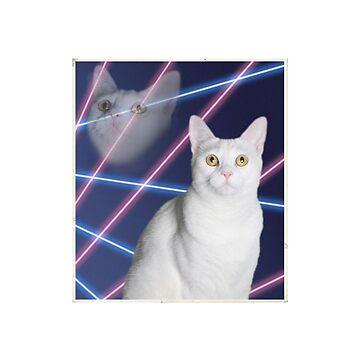 80'S LASER BACKGROUND CAT 2 by LostVox