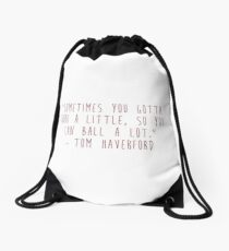 Tom Haverford Drawstring Bag