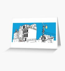 A Blue Day In New York Greeting Card