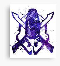 Halo Legendary Splatter Canvas Print