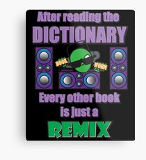 Funny Bookworm Reading cool cute lit book lover artbyjfg Metal Print