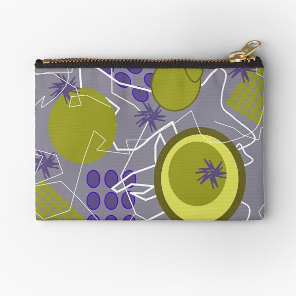 Abstract 8 purple Zipper Pouch