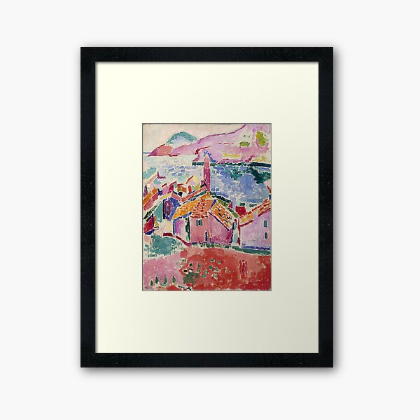 Les toits de Collioure- Henri Matisse  Framed Art Print
