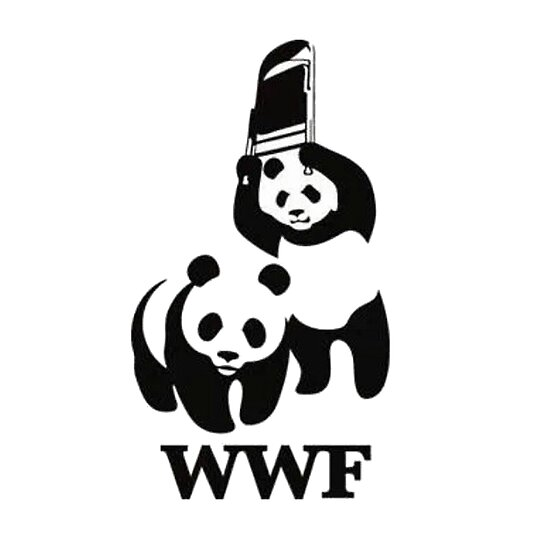 Wwf Panda Chair Shot Posters By Canadiangrifter Redbubble