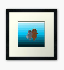 Happy Seal Family Framed Print