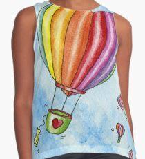 Rainbow Heart Hot Air Balloon Contrast Tank