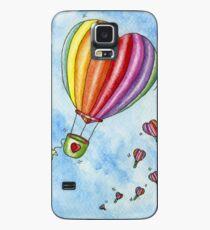 Rainbow Heart Hot Air Balloon Case/Skin for Samsung Galaxy