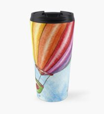 Rainbow Heart Hot Air Balloon Travel Mug