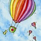 Rainbow Heart Hot Air Balloon by Hajra Meeks
