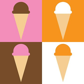 Ice Cream Pattern by MrPandaDesigns